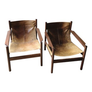 """Roxinho"" Safari Sling Chairs by Michel Arnoult - a Pair For Sale"