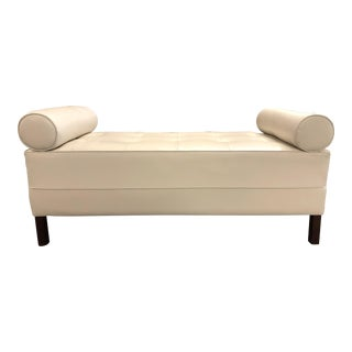 Mid-Century Modern Tufted Bench For Sale