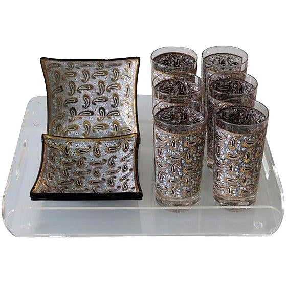 1970s Pucci-Style Bar Set with Tray - Set of 11 - Image 1 of 6