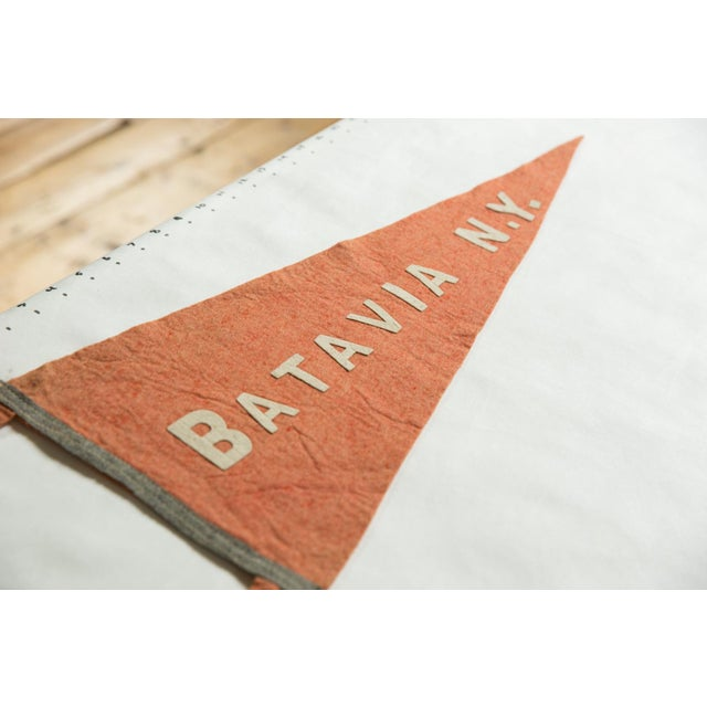 Americana Antique Batavia n.y. Felt Flag Pennant For Sale - Image 3 of 5