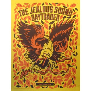2012 American El Jefe Concert Poster, The Jealous Sound/Daytrader For Sale