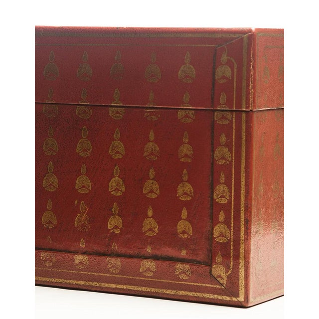 Lawrence & Scott Mandarin Red Bells Leather Box For Sale In Seattle - Image 6 of 7