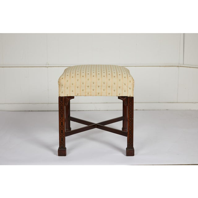 English Chinese Chippendale Style Mahogany Stool For Sale In Atlanta - Image 6 of 13