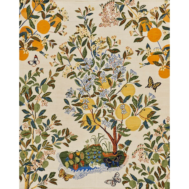 Cottage Schumacher Patterson Flynn Martin Citrus Garden Hand-Woven Wool Floral Rug - 9' X 12' For Sale - Image 10 of 10
