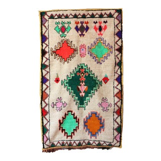 Contemporary Geometric Moroccan Boho Rug For Sale