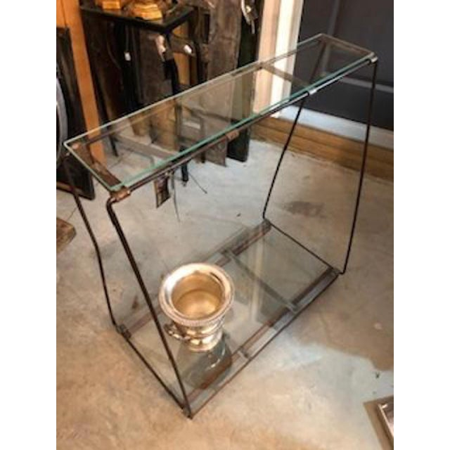 Industrial Style Metal Console Table For Sale - Image 4 of 8
