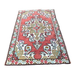 "1940s Turkish Oushak Wool Rug - 4'6""x7'5"""