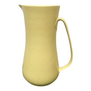 Mid-Century Signed Frank Mann Studio Pottery Pitcher For Sale
