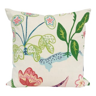 Mod Floral Pillow For Sale