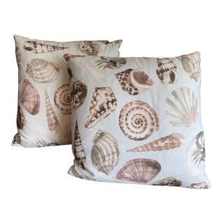Aruba Delft Handmade Pillows - A Pair For Sale