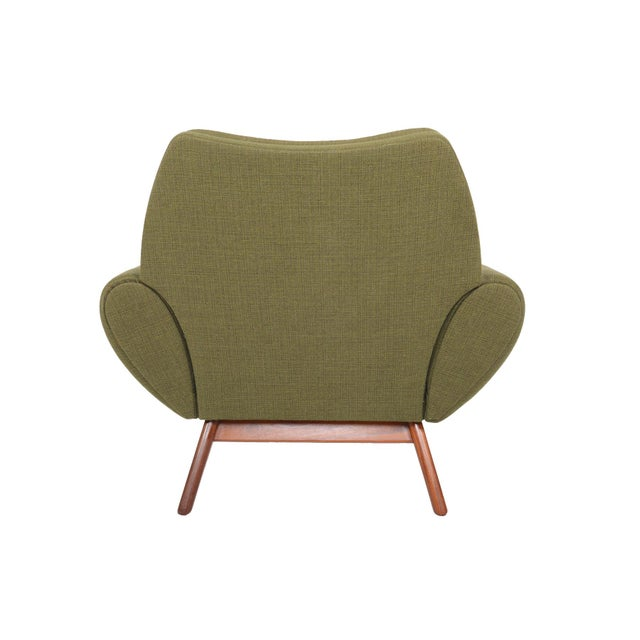 Johannes Andersen Lounge Chair in Olive - Image 8 of 11