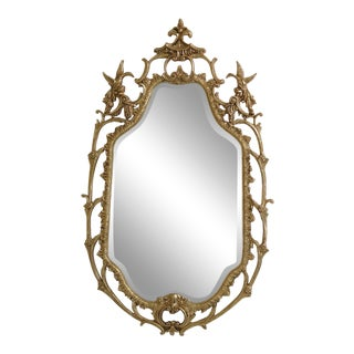 Modern Friedman Brothers Phoenix Carved Framed Mirror For Sale
