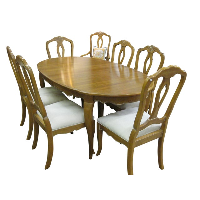 Ethan Allen French Country Dining Set - Image 1 of 8