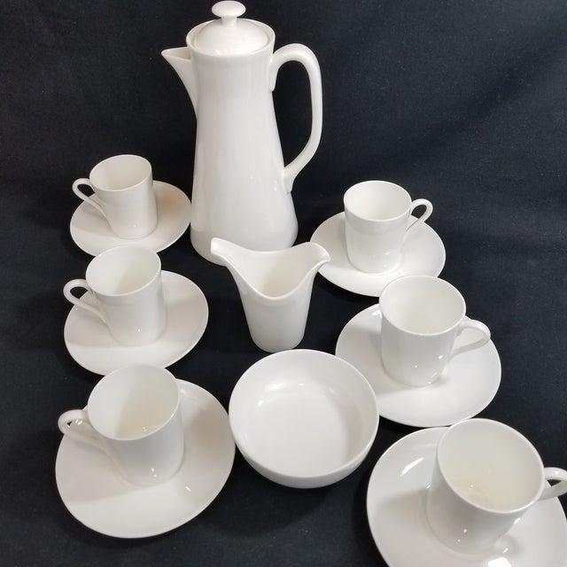 Mid-Century Modern Gustavsberg Stig Lindberg Bone China Espresso Set For Sale - Image 3 of 11