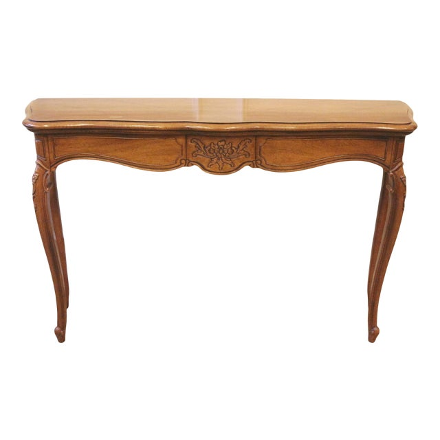 1970s Vintage Thomasville French Country Style Console Table For Sale