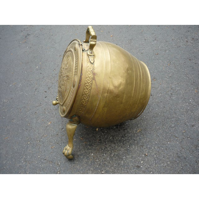 Antique Brass Coal Scuttle - Image 4 of 7