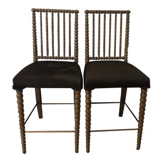 Mr Brown London Beatrix Stools- A Pair For Sale