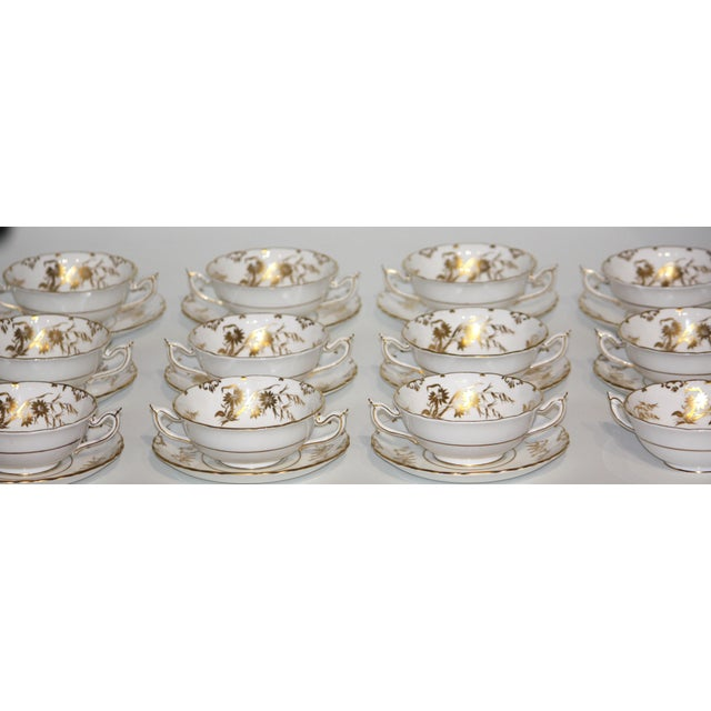 """Traditional Royal Crown Derby """"Marquis"""" Pattern Dinnerware - Set of 76 For Sale - Image 3 of 11"""