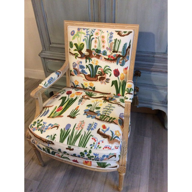 1980s Vintage Swedish/French Bergere Style Chair For Sale - Image 12 of 12