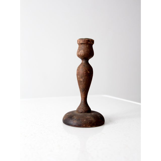 Antique Wooden Candle Holder - Image 4 of 6