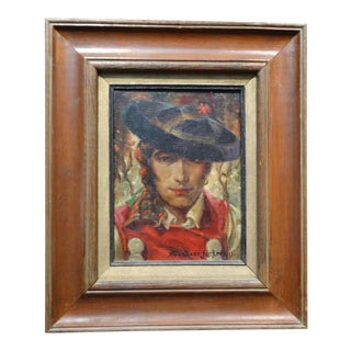 Theodore Jackman (1878-1940) Portrait of a Young Spaniard For Sale
