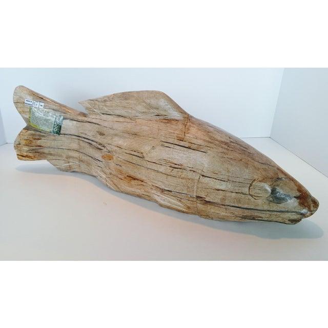 2010s Jumbo Petrified Wood Koi Fish Sculpture For Sale - Image 5 of 10