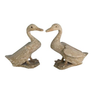 Rustic Duck Figurines - a Pair For Sale