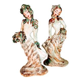Vintage Hedi Schoop California Geisha Ladies Dancer Planter Vases - a Pair For Sale