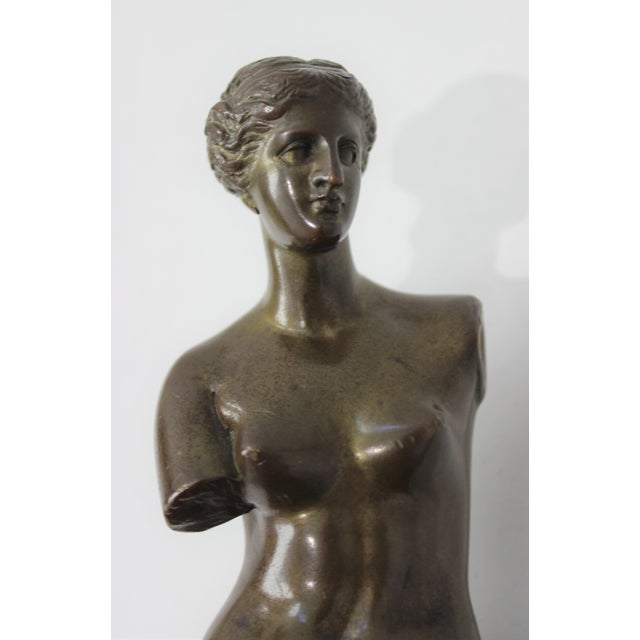 Iconic Grand Tour Antique Bronze Venus de Milo Figure 9 1/2 inches high. We have a larger Barbedienne Foundry Venus also...