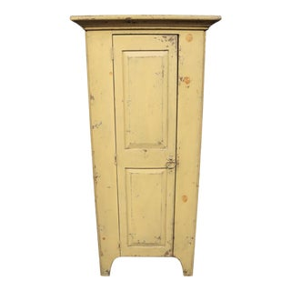 Habersham Rustic Country Style Painted Pantry Cabinet For Sale