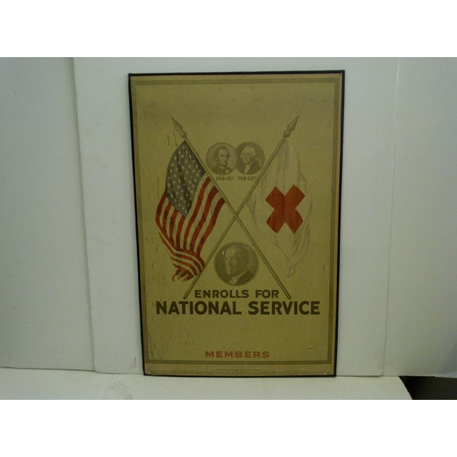 Vintage World War I Enrolls for National Service Members School Poster - Image 2 of 6