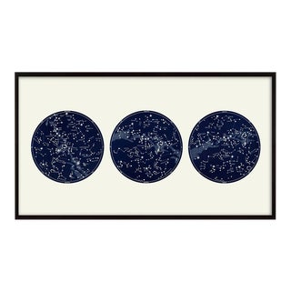 """Capricorn Press"" Celestial Print With 3 Constellation Maps"