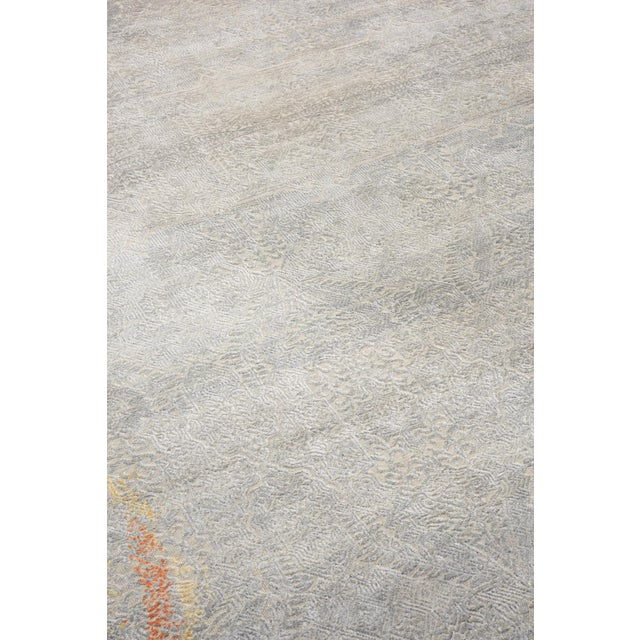 Contemporary Schumacher Sakura Hand-Knotted Area Rug in Wool Silk, Patterson Flynn Martin For Sale - Image 3 of 8