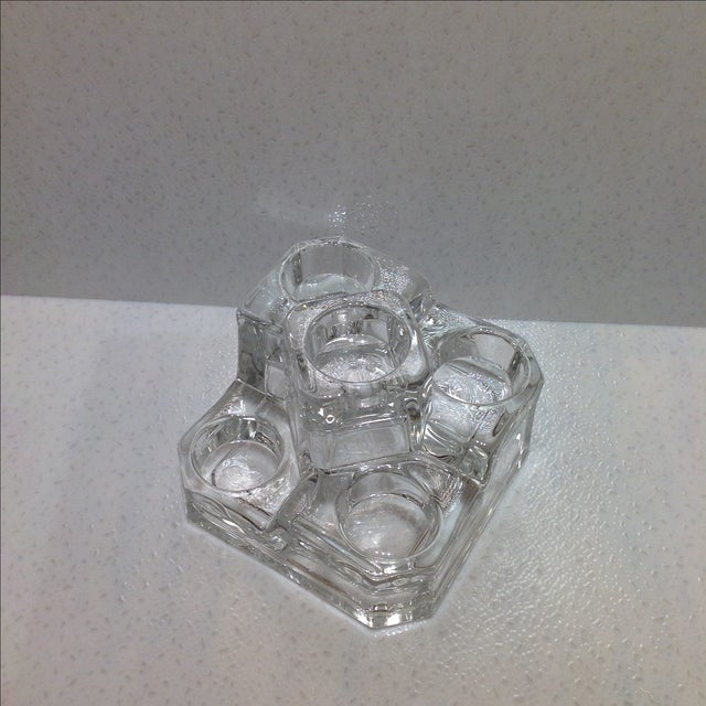 Clear Glass Tea Light Candle Holder - Image 4 of 4