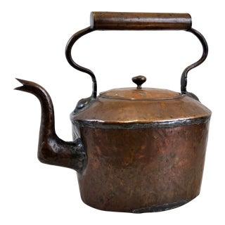 Vintage French Style Copper Tea Pot Kettle