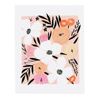 Pink Floral Bouquet I Print For Sale
