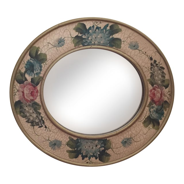Vintage Hand-Painted Mirror - Image 1 of 6