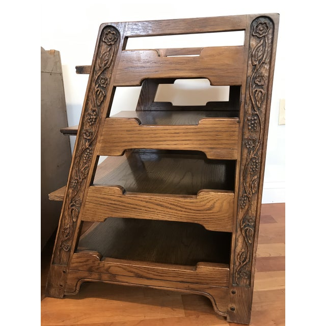 Romweber Viking Oak End Table Nightstands Magazine Shelf 5712 5-950 Arts and Crafts - a Pair For Sale - Image 12 of 13