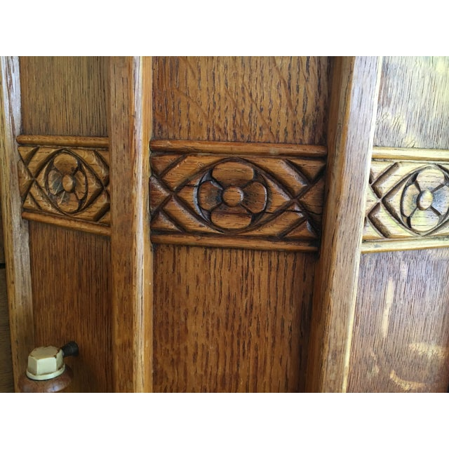 Art Deco Oak English Credenza - Image 7 of 10