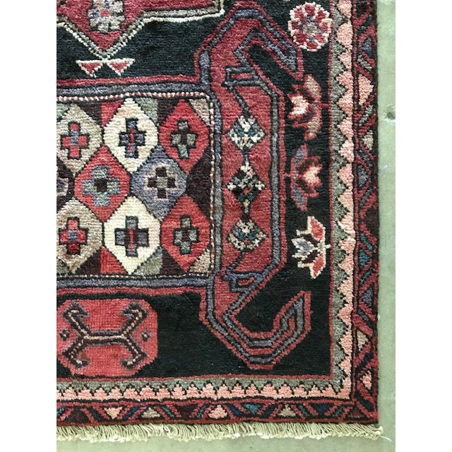 Vintage Persian Area Rug Runner W/ Millennial Pink Accents - Image 4 of 5