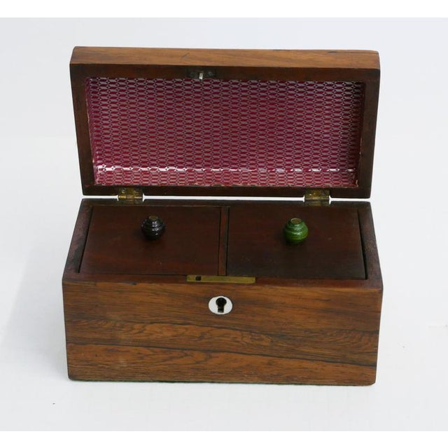 English Antique English Tea Caddy For Sale - Image 3 of 5