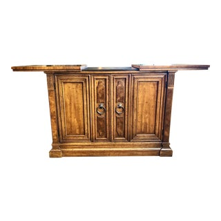 1960s Mid Century Modern Drexel Walnut Bar For Sale