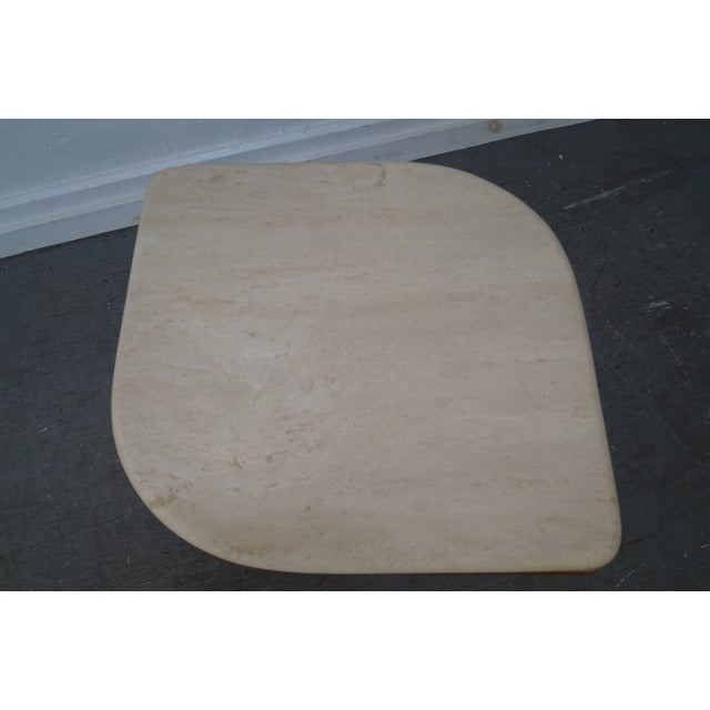 Danish Modern Teak & Travertine Coffee Table - Image 6 of 9
