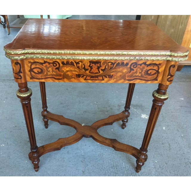 Louis XV Style Flip Top Game Table For Sale - Image 11 of 11