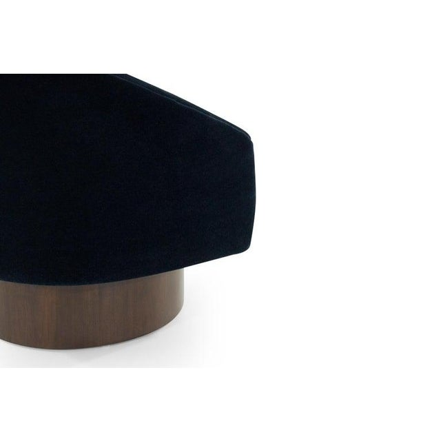 Adrian Pearsall for Craft Associates Swivel Chairs in Deep Blue Mohair For Sale - Image 10 of 12