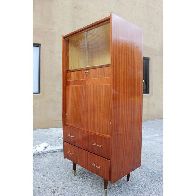 Monumental French Art Deco Mahogany Bar, Circa 1940s - Image 4 of 9