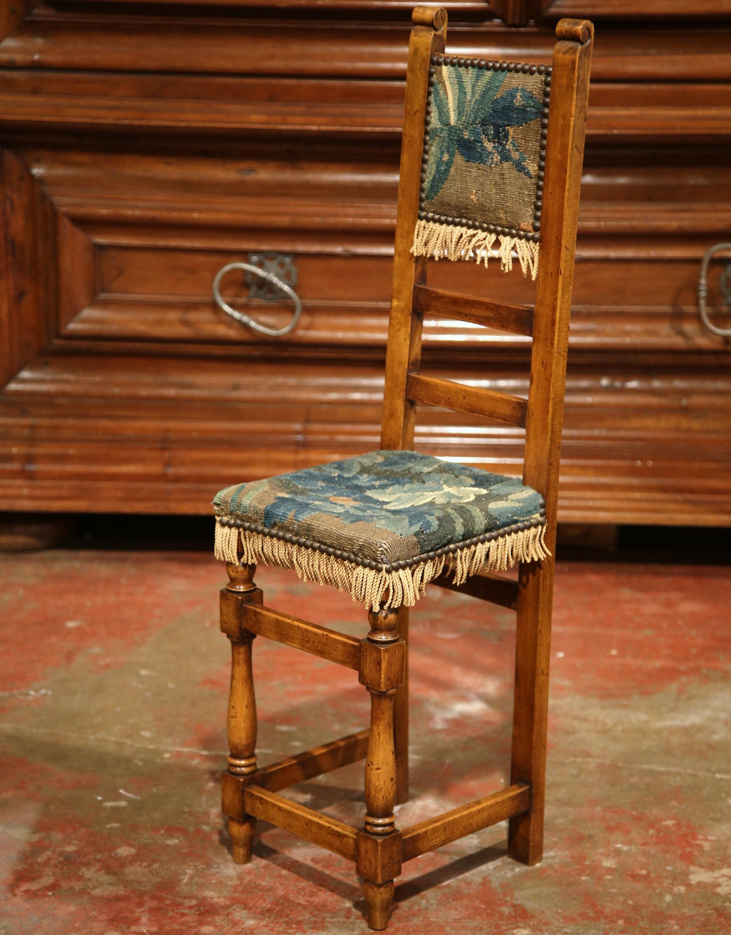 18th Century French Walnut Baby Chair With Aubusson Tapestry   Image 5 Of 9