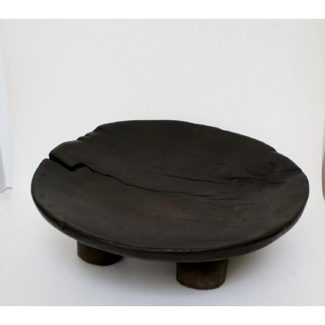 West African Footed Wood Bowl - Image 6 of 8