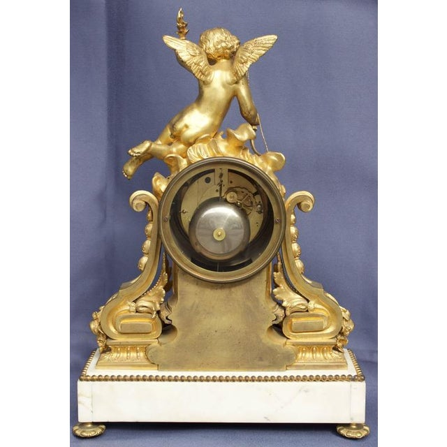 Early 19th Century Early 19th Century Antique French Louis XVI Style Figural Clock For Sale - Image 5 of 11