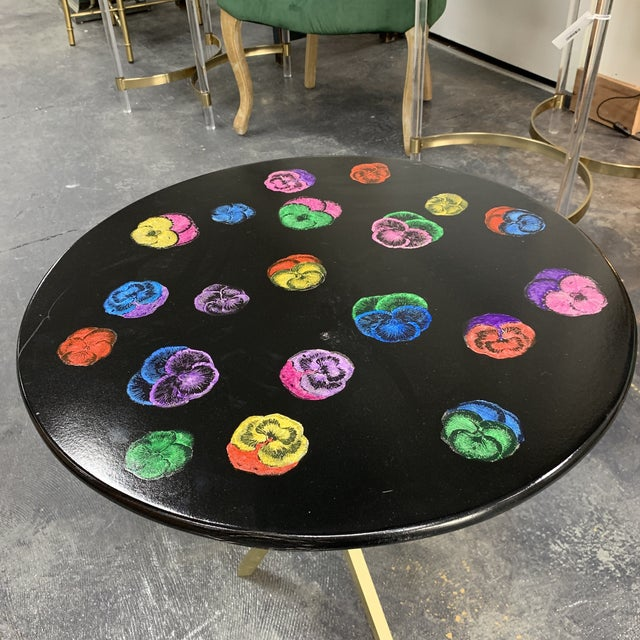 Beautiful vintage vibrant lacquered coffee table from Piero Fornasetti made in Italy. Made in the late 20th century.
